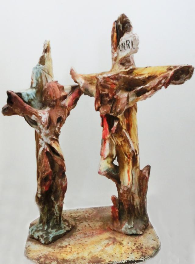 2010_-_cristo_e_il_buon_ladrone_-_001_-_640x_-_terracotta_multicolori_-_scultura_neoforica_-_CIMG8906
