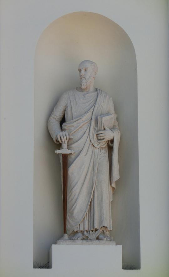 chiesa_di_nove_-_esterno_-_facciata_-_006_-_nicchia_e_statua_di_dx_quella_di_san_paolo_-_INTERNET_-_540_-__CIMG8590