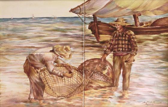 BATTISTELLO_BENITO_-_MAROSTICA_-_quadro_007_-_30x40_pescatori-----560X_----_2017-10-07_-_CIMG4243
