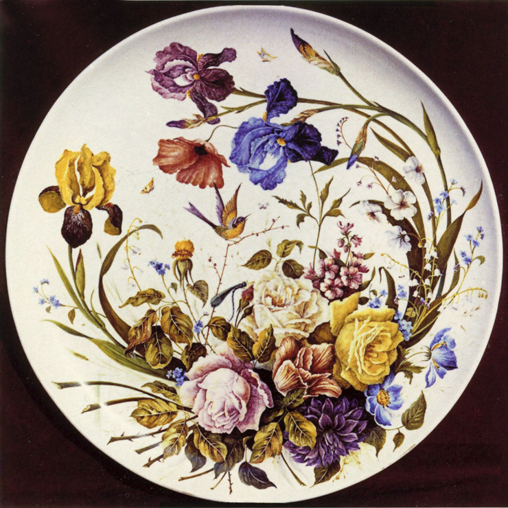 Z-POZZA-CERAMICA795_-_fiori_-_piatto_decorato_sotto_vernice_opaca_-_80cm_-_1986_------_740x740_----_