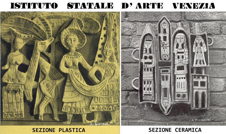 1958.03_-_Sezione_plastica_-_Sezione_ceramica_-_Cartoline_per_pubblicizzare_lIstituto_Statale_d_--_740x_---