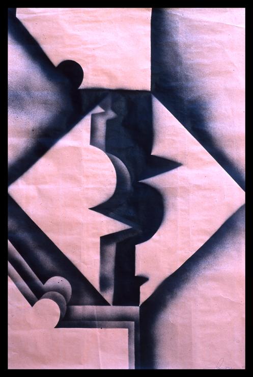 010_-_1974_-_Composizione_----_740_H_-----1974_Acrilico_a_spruzzo_100x70cm