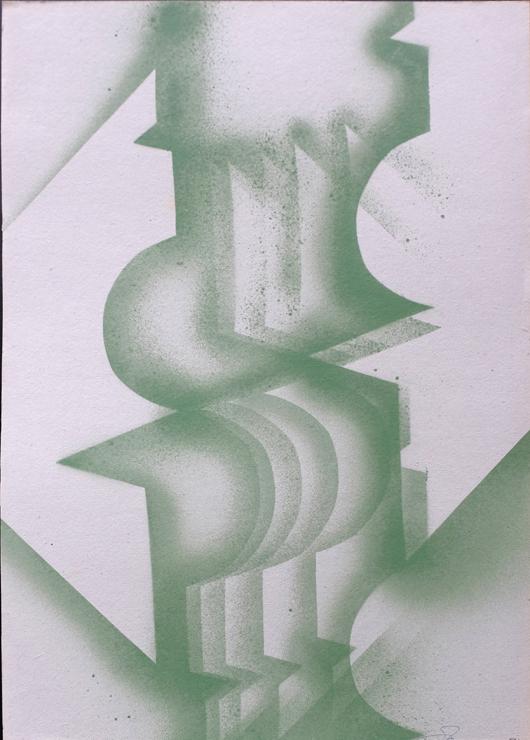 015_-_1974_-_Sequenza_---_740_H_----1974_Acrilico_a_spruzzo_71x50cm